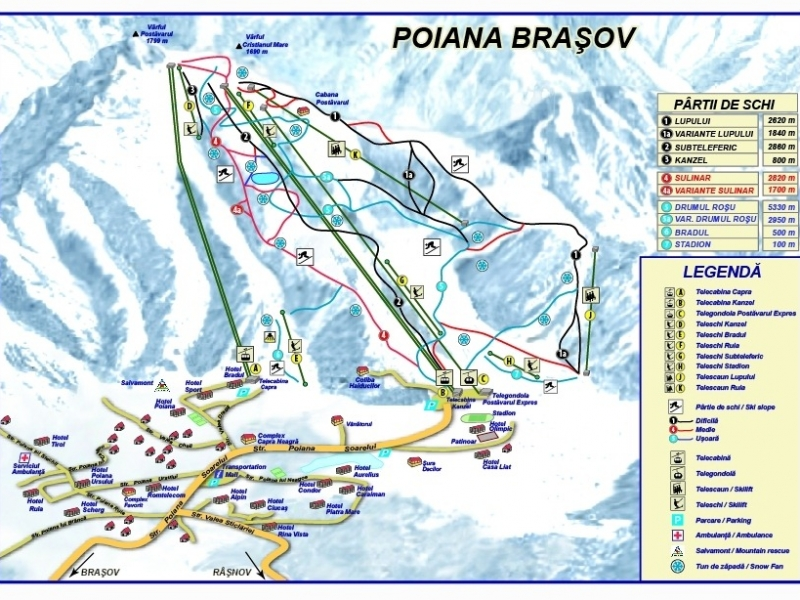 Poiana Brasov Romania Ski Ski Bradul Poiana Brasov