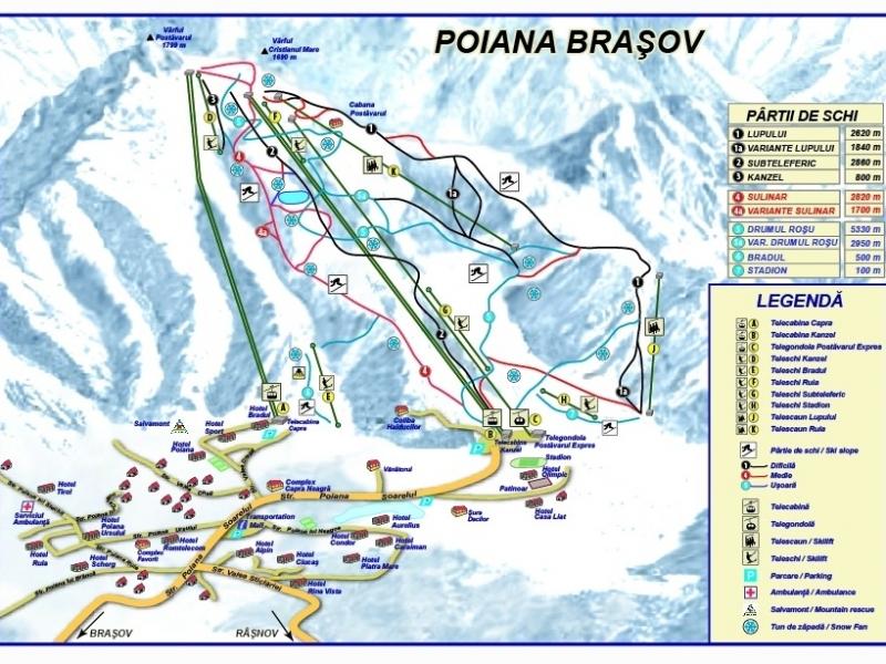 Poiana Brasov Romania Ski Ski Sulinar Poiana Brasov